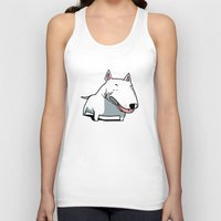 bull terrier Tank Tops featuring Bull Terrier by Jaume Tenes