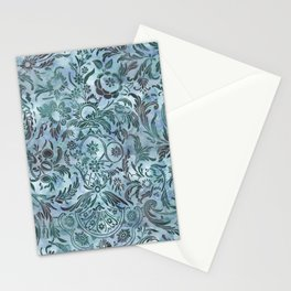 Watercolor Damask Pattern 08 Stationery Cards