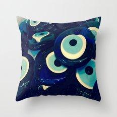 Boncuk The Evil Eye Throw Pillow