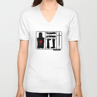 kit king V-neck T-shirts featuring Knight kit by le.duc