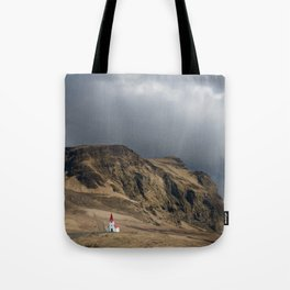 Church in Vik Iceland Tote Bag