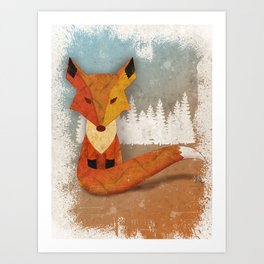 Fox in the Woods Art Print