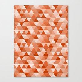 Geometric in Vermillion Canvas Print