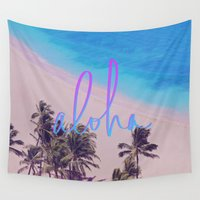 hawaii Wall Tapestries featuring Aloha Hawaii by Leah Flores