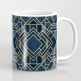 Art Deco Fancy Blue Coffee Mug