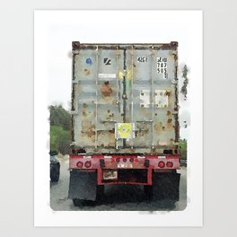 Daily Truck: 09/03/15 Art Print