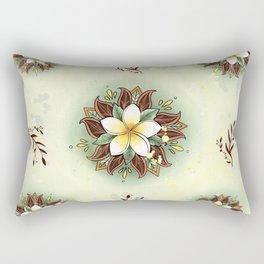 Plumeria Mandala Rectangular Pillow