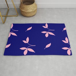Blue and pink 2-blackout curtains Rug