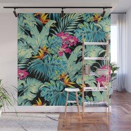 Tropical Greenery Island Dreams Wall Mural