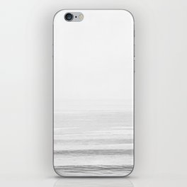 Washed Out Ocean Waves B&W // California Beach Surf Horizon Summer Sunrise Abstract Photograph Vibes iPhone Skin