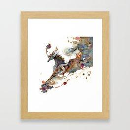 Kirin Unicorn Framed Art Print