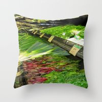 vegetables Throw Pillows featuring Fresh Vegetables by Chris' Landscape Images & Designs