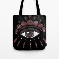 kenzo Tote Bags featuring KENZO eye red by cvrcak