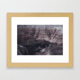 Badlands Mountains Framed Art Print