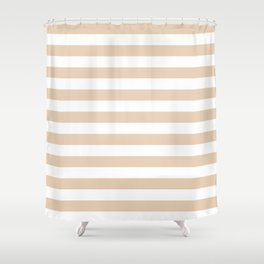 Brown Stripes Shower Curtains