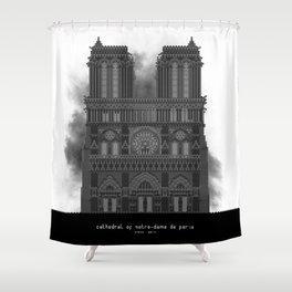 HexArchi - France, Paris, Cathedral of Notre Dame de Paris Shower Curtain