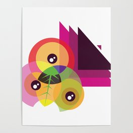 Color shapes & eye Poster