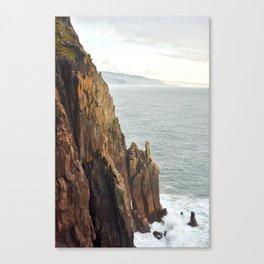 Lower Neahkahnie Mountain Ocean Spires, Oregon Coast Landscape Canvas Print
