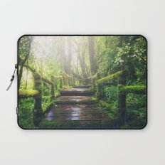 Green Jungle Forest Path Laptop Sleeve
