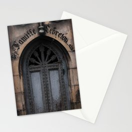 Gothic Door at Pere Lachaise Cemetery Paris Stationery Cards