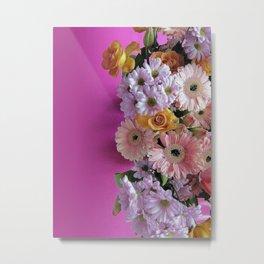 pink 'n flowers Metal Print