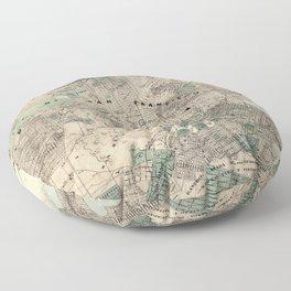 Map of San Francisco 1869 Floor Pillow