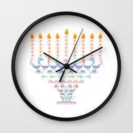 Marine Menorah 3 Wall Clock