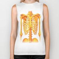 skeleton Biker Tanks featuring Skeleton by ShannonPosedenti