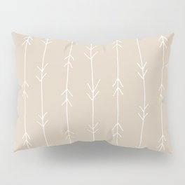 Arrow Pattern: Beige Pillow Sham