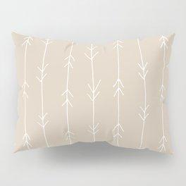 Arrow Pattern: Beige Pillow Sham