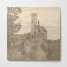 Vintage Castles Neck Gator Schloss Lichtenstein Metal Print