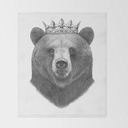 King bear Throw Blanket