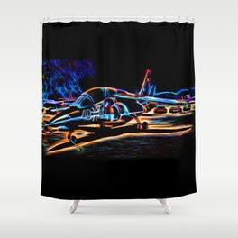 Neon Jet Shower Curtain