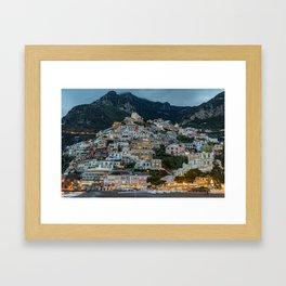 Dusk in Positano Framed Art Print