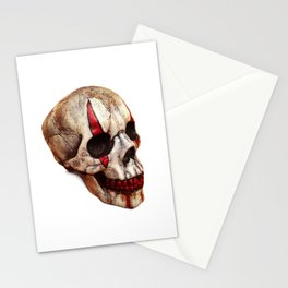 Circus Clown Skull Stationery Cards