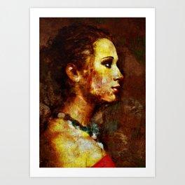 La Donna Pensosa Art Print