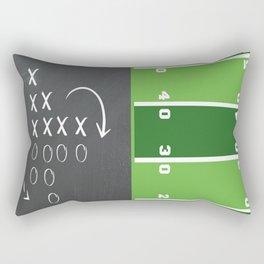 Football Game Day Play Rectangular Pillow
