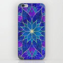 Lotus 2 - blue and purple iPhone Skin