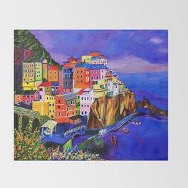 Manarola Cinque Terre Throw Blanket