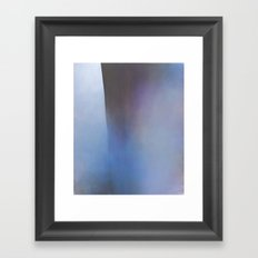 St Oswald - Blue sea and cliff painting Framed Art Print