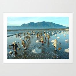 Hon Khoi salt fields - Viet Nam Art Print
