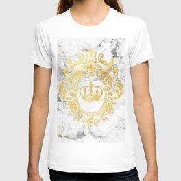 White Peonies Crown T-shirt