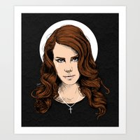 lana Art Prints featuring LANA. by paintparamore