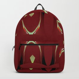 Arch Echoes on Red Backpack
