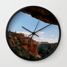 Sedona Sights From Under A Natural Arch Wall Clock