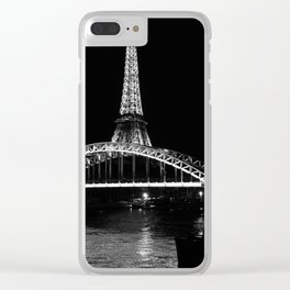 Eiffel Tower At Night 7bw Clear iPhone Case
