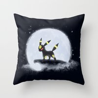 umbreon Throw Pillows featuring Umbreon by EnaGrapher