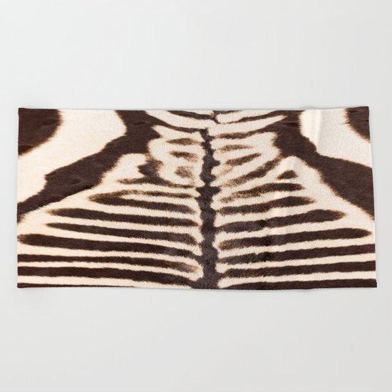 Zebra - stripes - classic - #society6 #buyart Beach Towel