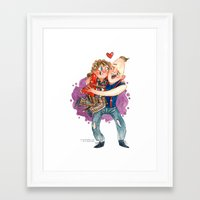 goonies Framed Art Prints featuring Goonies Hug by Super Group Hugs