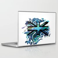 union jack Laptop & iPad Skins featuring Union Jack by Boz Designs
